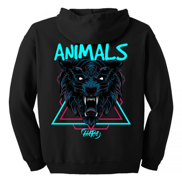 The Hara Animals zipped hoodie back