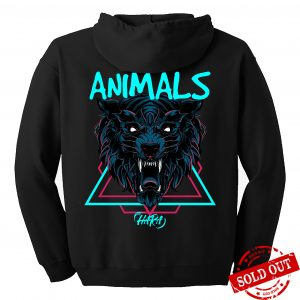 Animals zip hoodie back - SOLD OUT