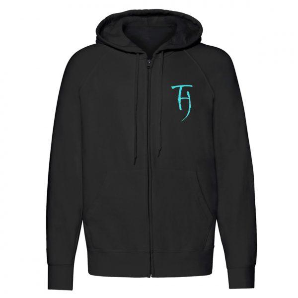The Hara Animals zip hoodie front