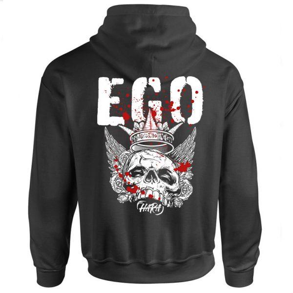 The hara EGO Black Hoodie Back
