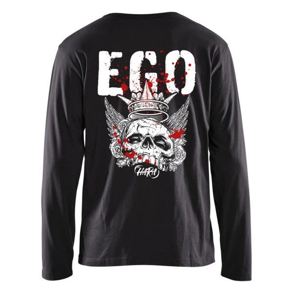 Long Sleeve Black EGO T-shirt Back