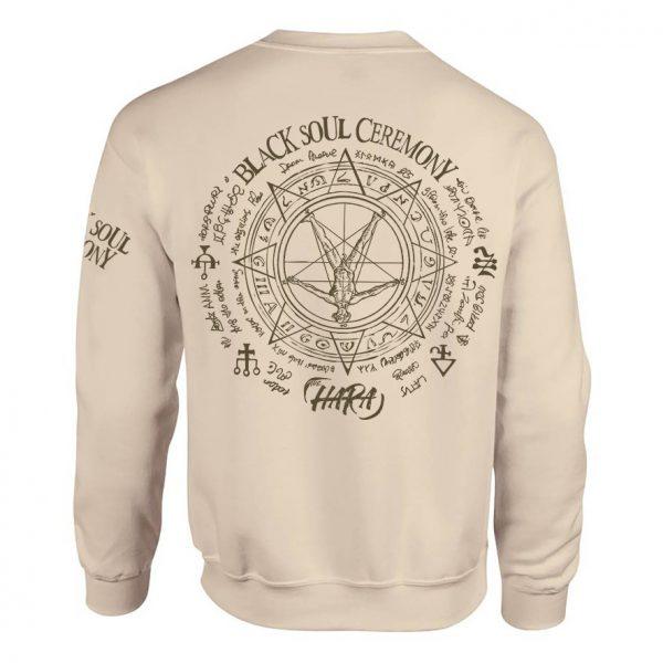 The Hara Black Soul Ceremony Sweat Shirt (back)